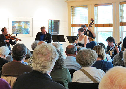 Clarinetist Robin Seletsky and the artists of Big Galut(e) thrilled the audience at the best-attended (up 'til then) concert in Friends of Music's 27 years on August 18, 2013.