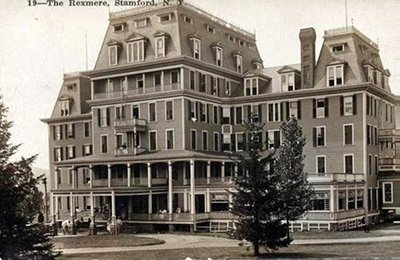 The Rexmere Hotel as seen in a vintage postcard; date and source unknown.